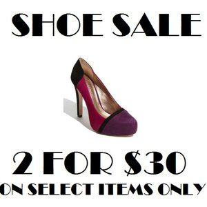 SHOE SALE 👠2 FOR $30👠